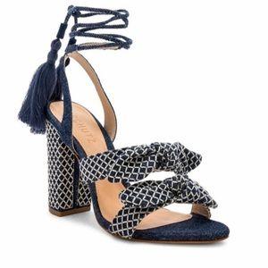 •nwt• Schutz Leyrieli ankle wrap tassel sandals